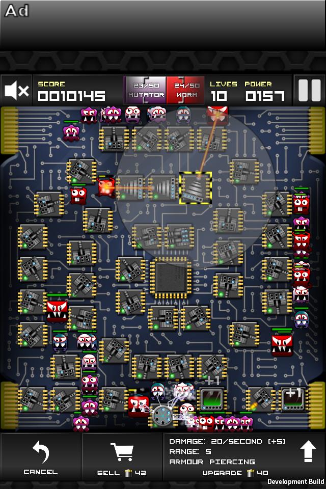 Screenshot Cyberspace Defender